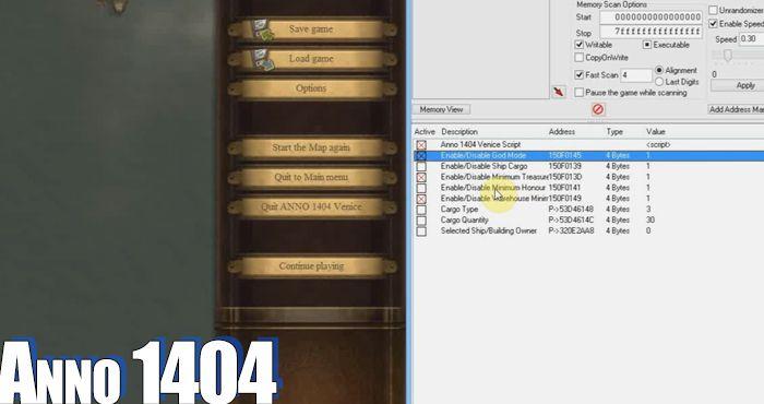 anno 1404 venice cheat engine