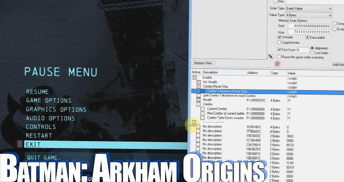 Batman: arkham origins trainer.