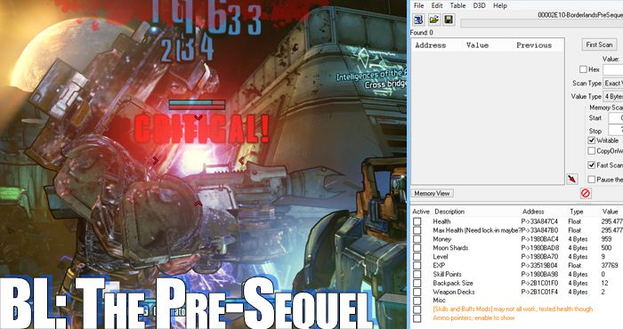 Borderlands: The Pre-Sequel Trainers and Cheats Borderlands Pre Sequel Pc Trainer