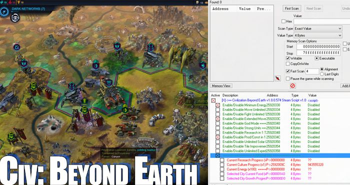 civ beyond earth trainer