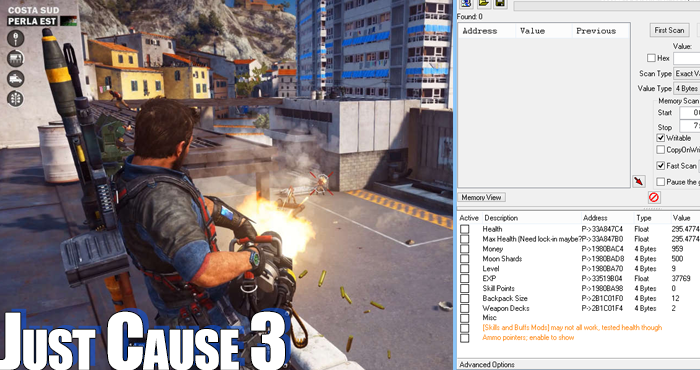 Just Cause 3 (PC) Cheats, Hacks and Trainers