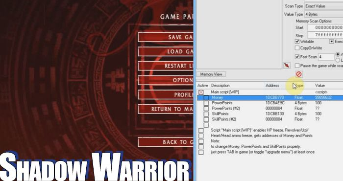shadow warrior trainer