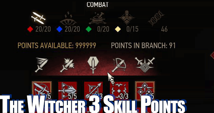 witcher 3 skill points cheat