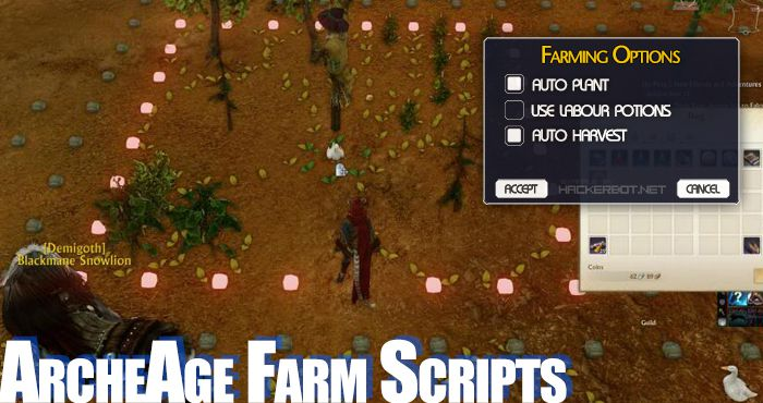 archeage farm scripts labour