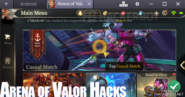Arena of Valor Hacks, Bots and Cheats for Android & iOS