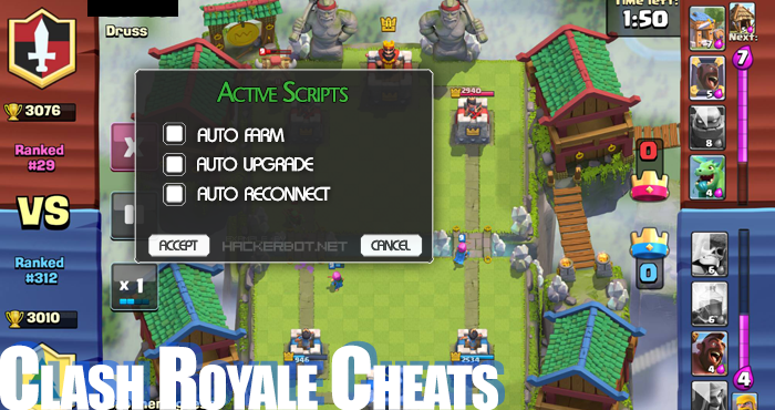 Clash Royale Cheats, Hacked .APK, iOS Apps and Bots
