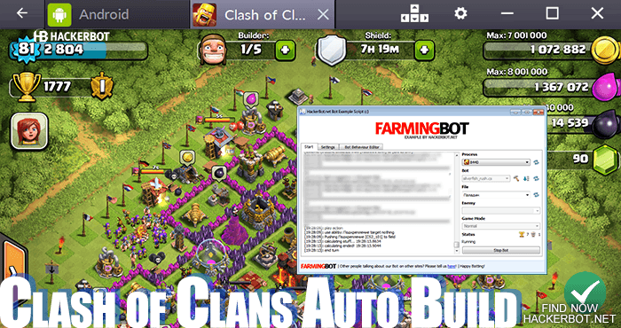 clash of clans auto build bot