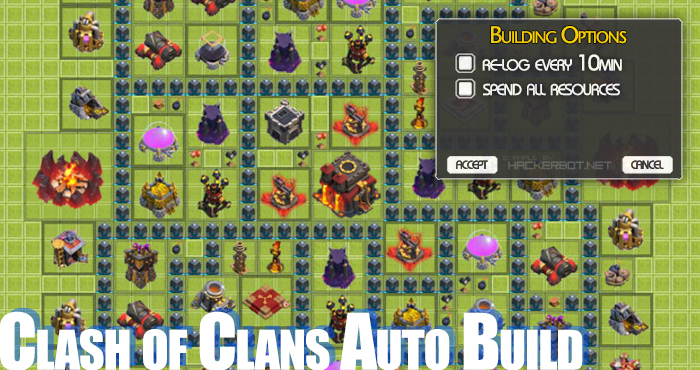 clash of clans auto build script