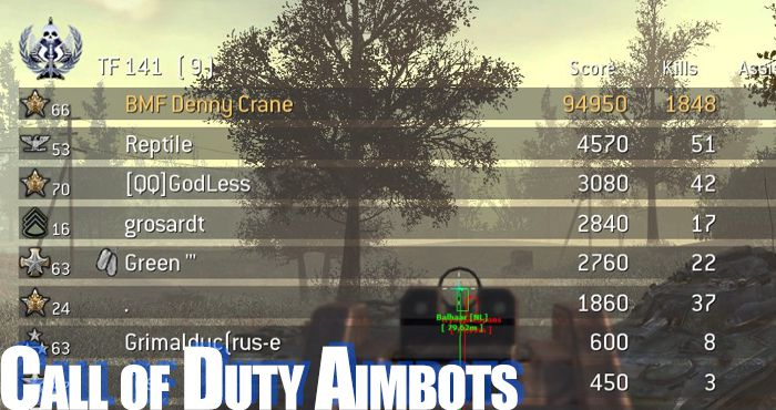 call of duty aimbots