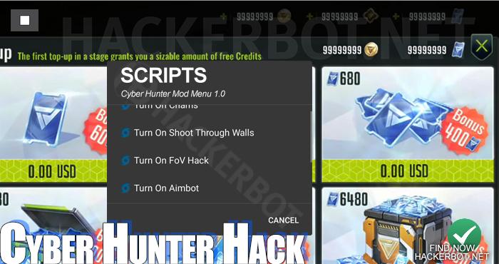 Cyber Hunter Hack Mods, Aimbots, Wallhacks, Mod Menus and Cheat
