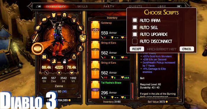Diablo Iii D3 Cheats Hacks And Farming Bots