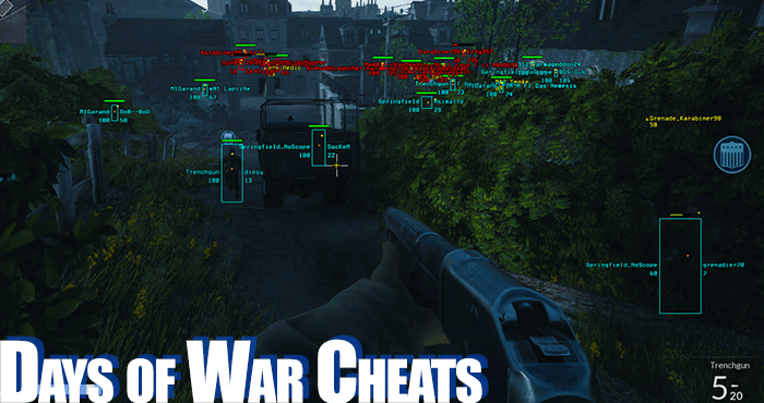 days of war cheating software