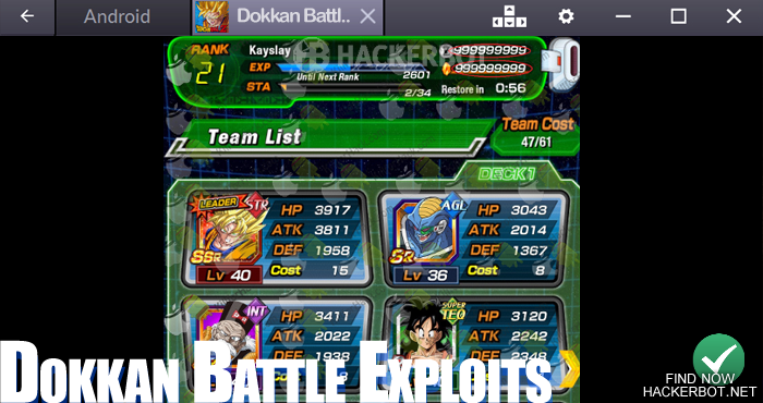 dbz dokkan battle exploit money cheat