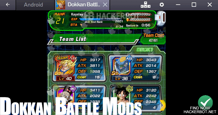 Dragon Ball Z DOKKAN BATTLE Hacks, Mods, Bots and Cheats for Android