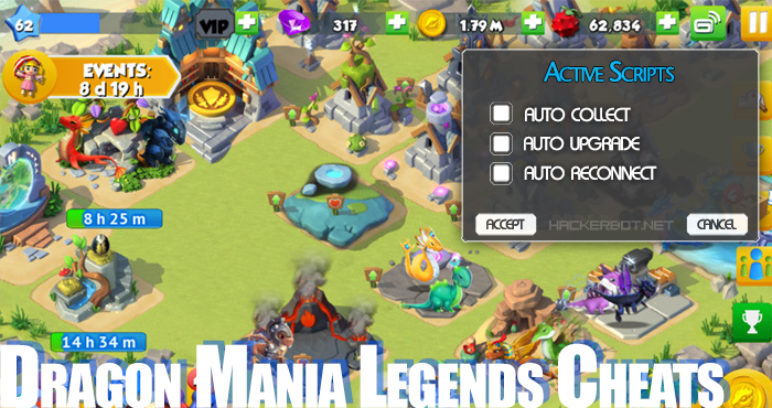 Dragon Mania Legends Hacks, Bots and other Cheats