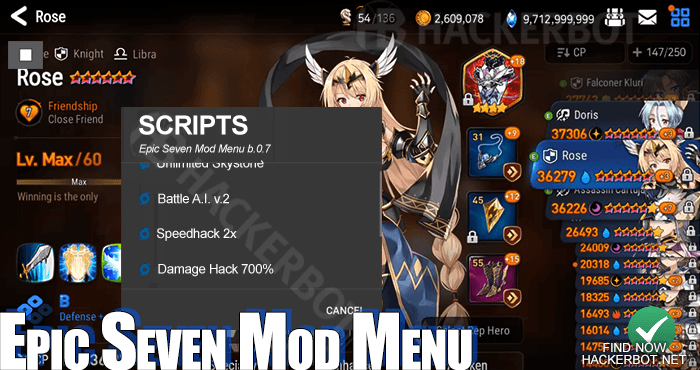 Epic Seven Hack Mods, Bots, Mod Menus and Cheats Download for