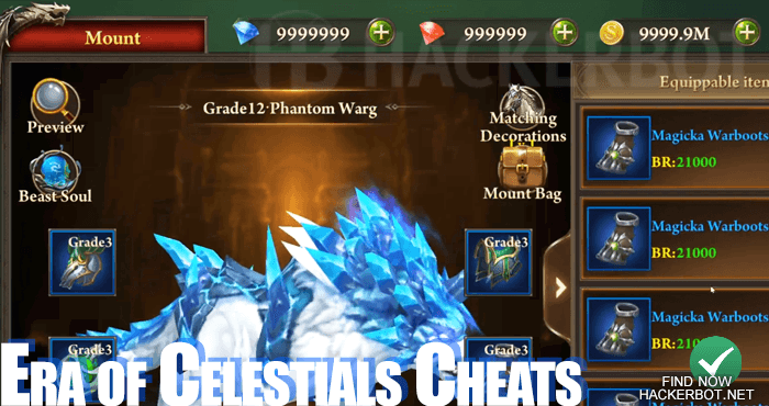 Era of Celestials Mods, Hacks, Bots and Cheats for Android / iOS