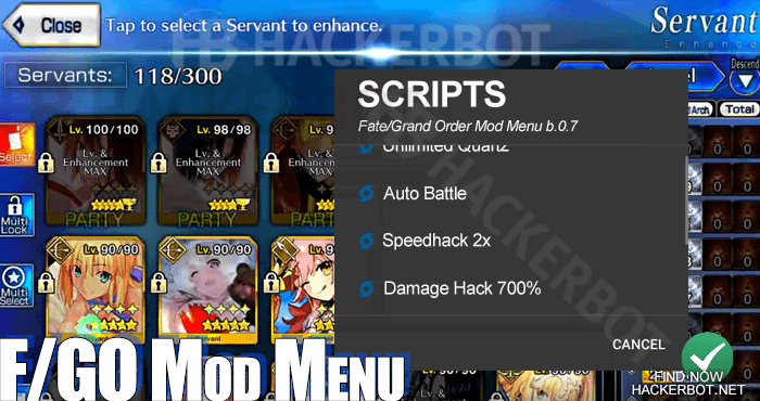 Fate/Grand Order (FGO) Hack Mods, Tools, Mod Menus and Cheats for