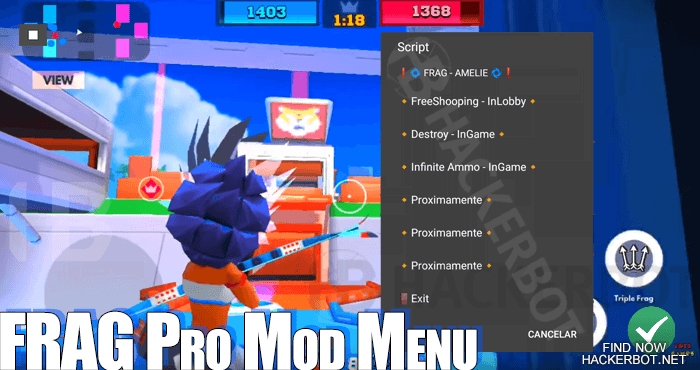 FRAG Pro Shooter Hack Mods, Aimbots, Wallhacks,Mod Menus and Cheat