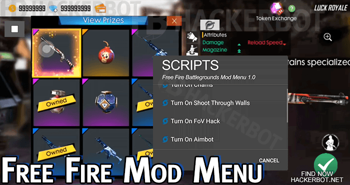 Free Fire Hack Mods, Aimbots, Wallhacks, Mod Menus and Cheats for