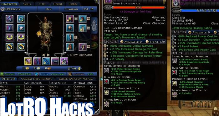 Lord of the Rings Online Bots, Cheats and Hacks [LotRO]