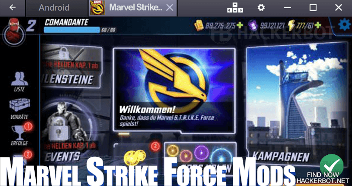 marvel strike force cheat