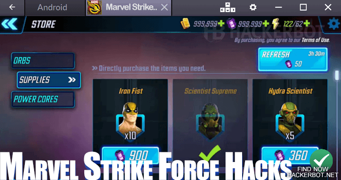marvel strike force hack mod download