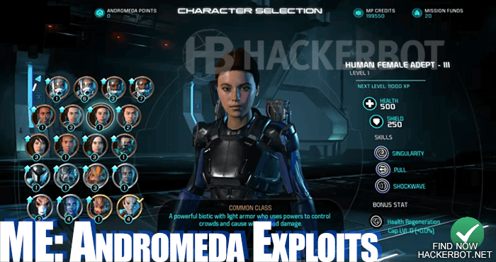 me andromeda download credits hack