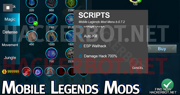 Mobile Legends Hacks, Mod Menus, Scripts and Cheat Downloads
