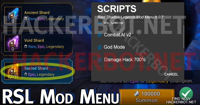 RAID: Shadow Legends Hack Mods, Bots, Mod Menus and Cheats Download