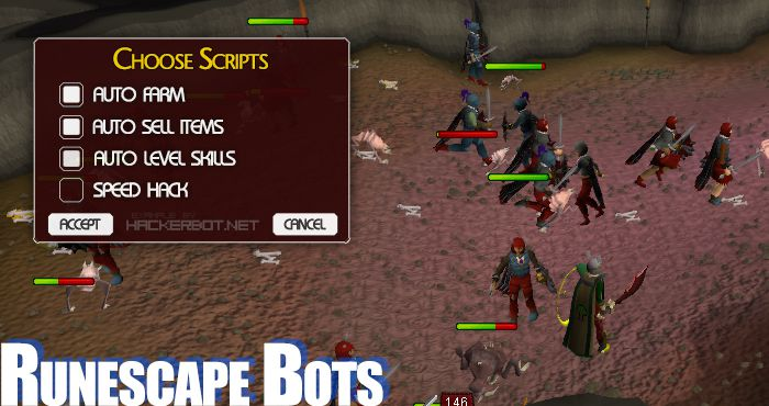 Runescape Bots, Hacks, Dupes and other Cheats