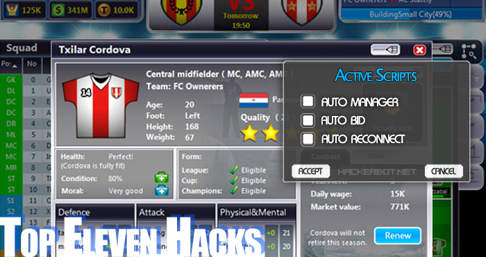 Generate Cash And Tokens With Our Top Eleven 2019 Hack