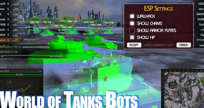 World of Tanks (WoT) Cheats, Hacks, Farming Bots and Aimbots