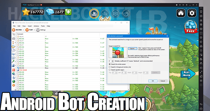 make android game bot cheats