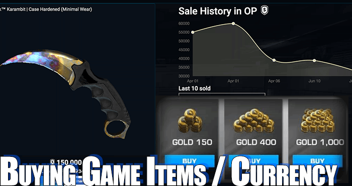 buy online game items currency