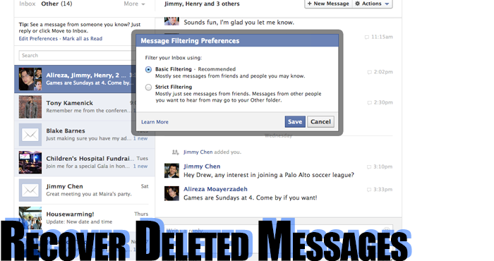how to restore deleted fb messages