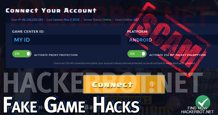 fake game hack website